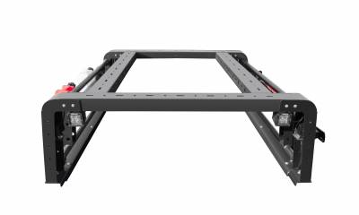 2019-2021 Ford Ranger Overland Access Rack With Two Lifting Side Gates and (4) 3 Inch ZROADZ LED Pod Lights - PN #Z835101 - Image 6