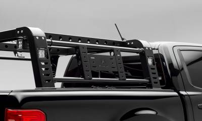 2019-2021 Ford Ranger Overland Access Rack With Two Lifting Side Gates and (4) 3 Inch ZROADZ LED Pod Lights - PN #Z835101 - Image 7