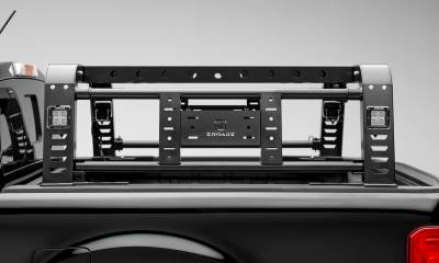 2019-2021 Ford Ranger Overland Access Rack With Two Lifting Side Gates and (4) 3 Inch ZROADZ LED Pod Lights - PN #Z835101 - Image 8