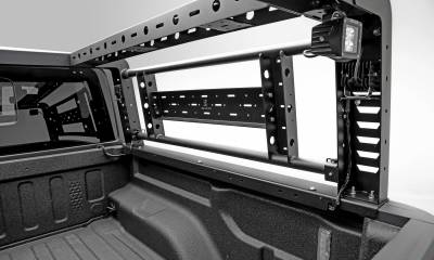 2019-2021 Ford Ranger Overland Access Rack With Two Lifting Side Gates and (4) 3 Inch ZROADZ LED Pod Lights - PN #Z835101 - Image 10