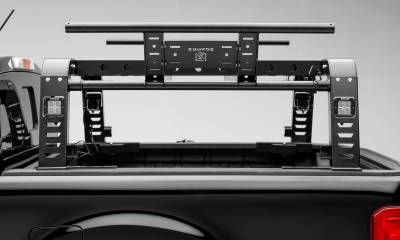 2019-2021 Ford Ranger Overland Access Rack With Two Lifting Side Gates and (4) 3 Inch ZROADZ LED Pod Lights - PN #Z835101 - Image 11