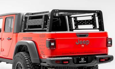 2019-2020 Jeep Gladiator Overland Access Rack With Side Gates, Incl. (4) 3 Inch ZROADZ LED Pod Lights - PN #Z834101 - Image 2