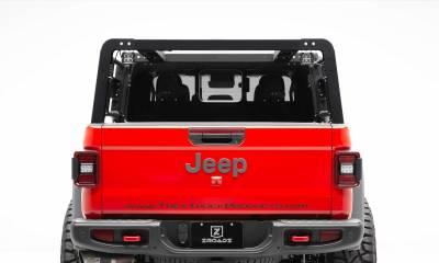 2019-2020 Jeep Gladiator Overland Access Rack With Side Gates, Incl. (4) 3 Inch ZROADZ LED Pod Lights - PN #Z834101 - Image 4