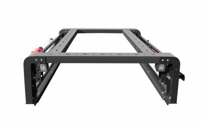 2019-2020 Jeep Gladiator Overland Access Rack With Side Gates, Incl. (4) 3 Inch ZROADZ LED Pod Lights - PN #Z834101 - Image 7
