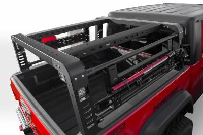 2019-2020 Jeep Gladiator Overland Access Rack With Side Gates, Incl. (4) 3 Inch ZROADZ LED Pod Lights - PN #Z834101 - Image 9