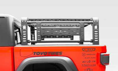 2019-2020 Jeep Gladiator Overland Access Rack With Side Gates, Incl. (4) 3 Inch ZROADZ LED Pod Lights - PN #Z834101 - Image 10