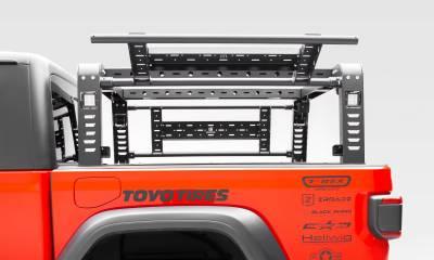 2019-2020 Jeep Gladiator Overland Access Rack With Side Gates, Incl. (4) 3 Inch ZROADZ LED Pod Lights - PN #Z834101 - Image 11