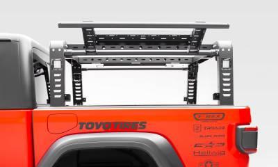 2019-2020 Jeep Gladiator Overland Access Rack With Side Gates, Incl. (4) 3 Inch ZROADZ LED Pod Lights - PN #Z834101 - Image 12