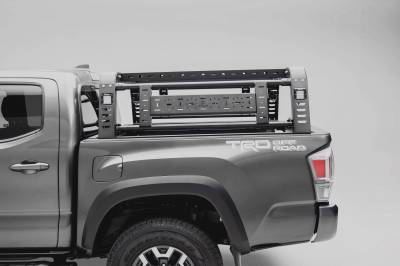 2016-2021 Toyota Tacoma Overland Access Rack With Side Gates, Incl. (4) 3 Inch ZROADZ LED Pod Lights - PN #Z839101 - Image 9