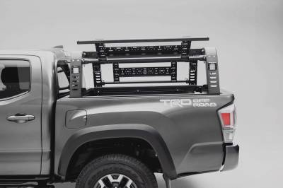 2016-2021 Toyota Tacoma Overland Access Rack With Side Gates, Incl. (4) 3 Inch ZROADZ LED Pod Lights - PN #Z839101 - Image 10