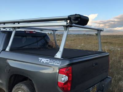 Toyota Tacoma Galleon Truck Rack for Cabs Under 24 Inches, Standard Legs, Brushed Frame With Bead Blasted Base - PN #82690210 - Image 9