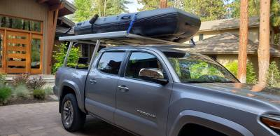 Toyota Tacoma Galleon Truck Rack for Cabs Under 24 Inches, Standard Legs, Brushed Frame With Bead Blasted Base - PN #82690210 - Image 8