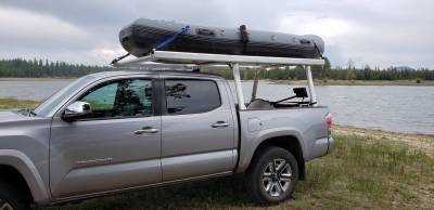 Toyota Tacoma Galleon Truck Rack for Cabs Under 24 Inches, Standard Legs, Brushed Frame With Bead Blasted Base - PN #82690210 - Image 5