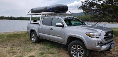 Toyota Tacoma Galleon Truck Rack for Cabs Under 24 Inches, Standard Legs, Brushed Frame With Bead Blasted Base - PN #82690210 - Image 4