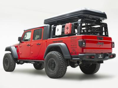 2019-2021 Jeep Gladiator Access Overland Rack Crossbars, Black, Mild Steel, Bolt-On, 2 Pc Set with Hardware - PN #Z834011 - Image 11