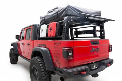 2019-2021 Jeep Gladiator Access Overland Rack With Three Lifting Side Gates, For use on Factory Trail Rail Cargo Systems - PN #Z834211 - Image 4