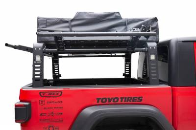 2019-2021 Jeep Gladiator Access Overland Rack With Three Lifting Side Gates, For use on Factory Trail Rail Cargo Systems - PN #Z834211 - Image 11