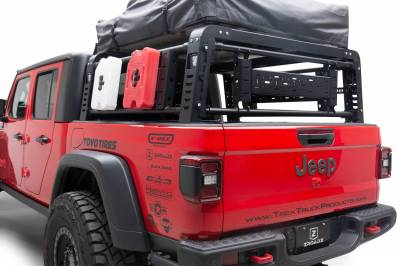 2019-2021 Jeep Gladiator Access Overland Rack With Three Lifting Side Gates, For use on Factory Trail Rail Cargo Systems - PN #Z834211 - Image 12