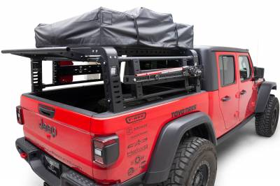 2019-2021 Jeep Gladiator Access Overland Rack With Three Lifting Side Gates, For use on Factory Trail Rail Cargo Systems - PN #Z834211 - Image 13