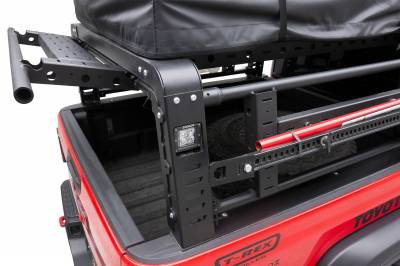2019-2021 Jeep Gladiator Access Overland Rack With Three Lifting Side Gates, For use on Factory Trail Rail Cargo Systems - PN #Z834211 - Image 15