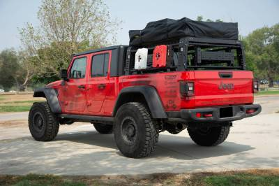 2019-2021 Jeep Gladiator Access Overland Rack With Three Lifting Side Gates, For use on Factory Trail Rail Cargo Systems - PN #Z834211 - Image 17