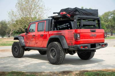 2019-2021 Jeep Gladiator Access Overland Rack With Three Lifting Side Gates, For use on Factory Trail Rail Cargo Systems - PN #Z834211 - Image 18