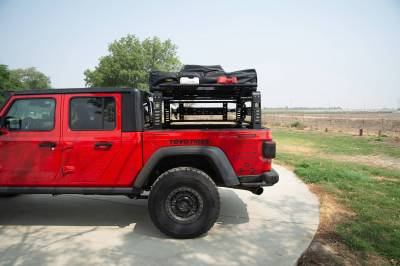 2019-2021 Jeep Gladiator Access Overland Rack With Three Lifting Side Gates, For use on Factory Trail Rail Cargo Systems - PN #Z834211 - Image 19