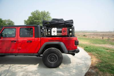 2019-2021 Jeep Gladiator Access Overland Rack With Three Lifting Side Gates, For use on Factory Trail Rail Cargo Systems - PN #Z834211 - Image 21