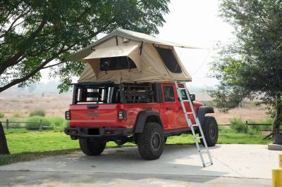 2019-2021 Jeep Gladiator Access Overland Rack With Three Lifting Side Gates, For use on Factory Trail Rail Cargo Systems - PN #Z834211 - Image 23