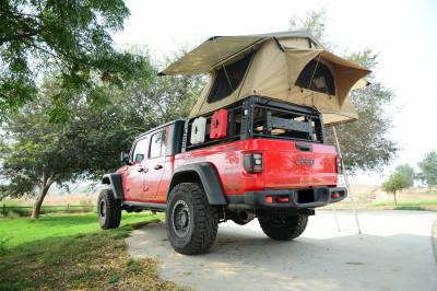 2019-2021 Jeep Gladiator Access Overland Rack With Three Lifting Side Gates, For use on Factory Trail Rail Cargo Systems - PN #Z834211 - Image 24