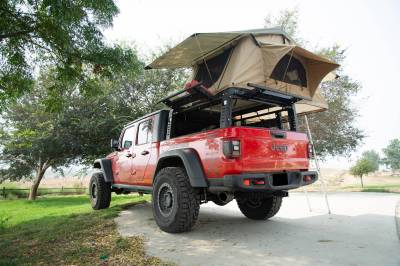 2019-2021 Jeep Gladiator Access Overland Rack With Three Lifting Side Gates, For use on Factory Trail Rail Cargo Systems - PN #Z834211 - Image 25