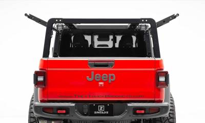 2019-2021 Jeep Gladiator Access Overland Rack With Two Lifting Side Gates, For use on Factory Trail Rail Cargo Systems - PN #Z834111 - Image 5