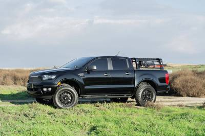2019-2021 Ford Ranger Overland Access Rack With Two Lifting Side Gates and (4) 3 Inch ZROADZ LED Pod Lights - PN #Z835101 - Image 20