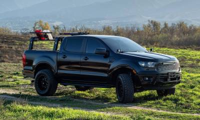 2019-2021 Ford Ranger Overland Access Rack With Two Lifting Side Gates and (4) 3 Inch ZROADZ LED Pod Lights - PN #Z835101 - Image 21