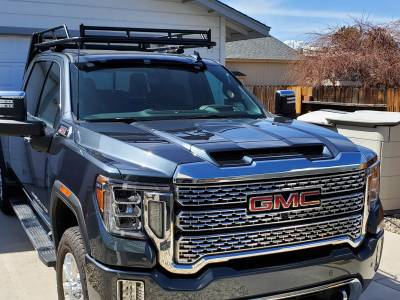 2007-2021 Silverado/Sierra Fifth Wheel 6 Rack, With Crossbar, Without Deck, Black, 6 Ft Over Cab - PN #82520511 - Image 6